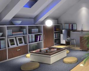 现代风格复式楼阁楼装修效果图