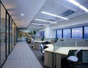 现代白领办公室装修效果图