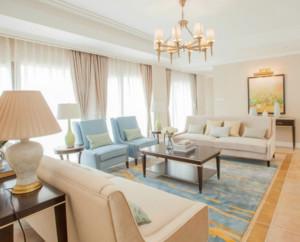 现代风格别墅客厅窗帘装修效果图展示