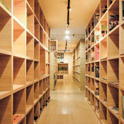 书店装饰效果图楼道