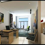 现代小面积办公室装修效果图