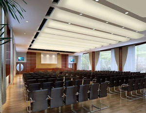 企业大型会议室装修效果图