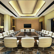 企业小型会议室装修效果图