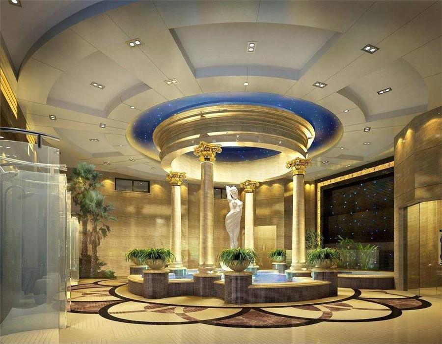 都市混搭风格酒店大厅装修效果图