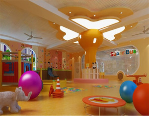 现代中式风格幼儿园装修效果图