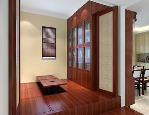 榻榻米书房卧室一体设计效果图