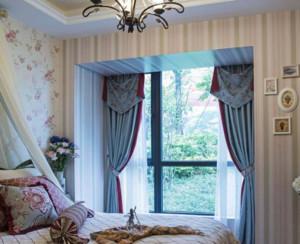 田园风格卧室窗帘装修效果图鉴赏