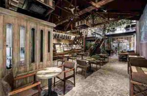 90平米欧式风格咖啡厅装修效果图