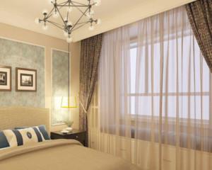 小户型北欧风格窗帘装修效果图