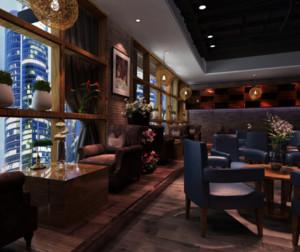 小型中式咖啡厅装修效果图