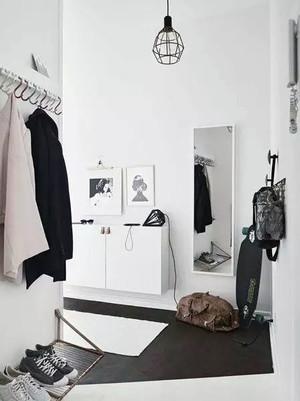100平米小清新鞋柜装修设计效果图