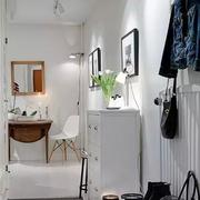 二居室小清新鞋柜装修案例