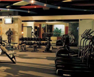 120平米都市风格健身房效果图