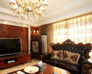 欧式风格客厅窗帘装修效果图