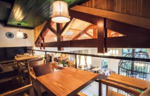120平米混搭风格咖啡厅装修效果图