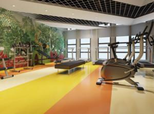 120平米美式风格健身房装修效果图