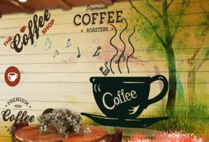 90平米乡村风格咖啡厅装修效果图