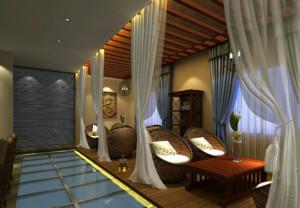 2018东南亚风格美容院装修效果图