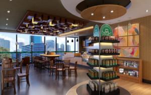 200平米简约咖啡厅装修效果图