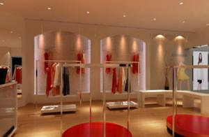 100平米都市风格服装店装修效果图
