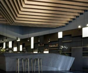 60平米都市风格酒吧吧台装修效果图