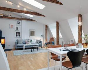 120平米北欧风格阁楼设计效果图