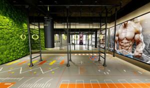100平米都市风格健身房装修效果图