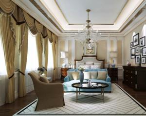 简约风格客厅窗帘装修效果图案例