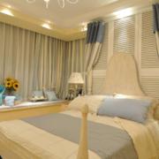 90平米地中海风格窗帘设计效果图
