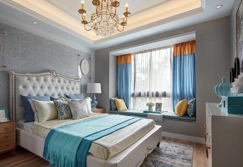 现代时尚二居室飘窗装修案例