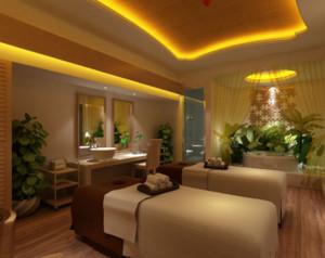 200平米中式风格美容院装修效果图