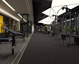 混搭风格健身房装修效果图案例