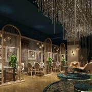 60平米后现代风格咖啡厅装修效果图