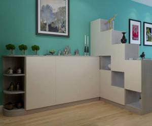 90平米现代风格玄关鞋柜设计效果图