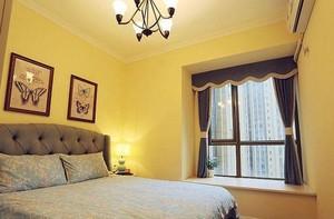 美式风格卧室飘窗装修设计效果图