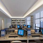 现代办公室装修设计效果图