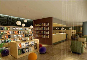简约休闲书店装修效果图