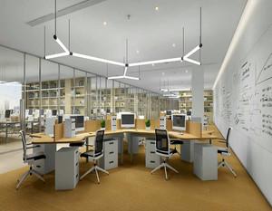 现代商业办公室装修效果图