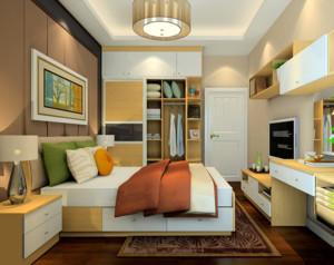 卧室书房一体装修效果图