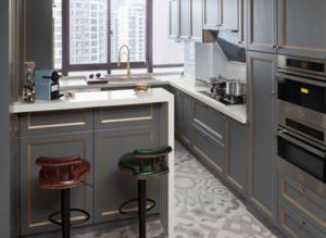 美式风格厨房吧台装修效果图大全