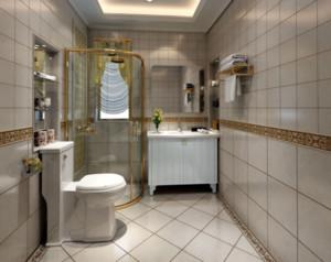 长条形卫生间装修效果图