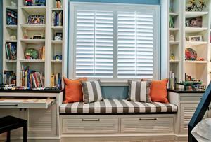 书房飘窗柜装修设计效果图