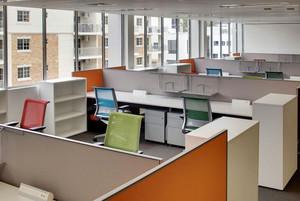 现代时尚办公室装修实景图