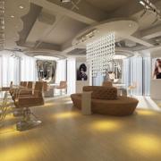 120平米现代简约风格美发店装修效果图赏析