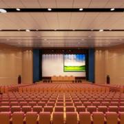 学校大型会议室装修效果图赏析