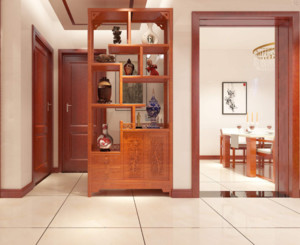 三居室中式风格玄关装修效果图
