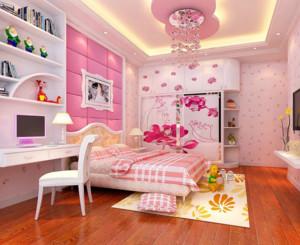 现代简约公主卧室装修效果图