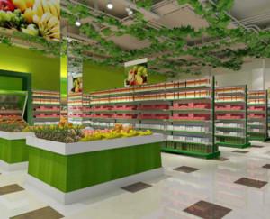 90平米混搭风格水果店装修效果图