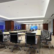 企业用会议室装修效果图