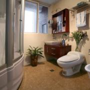 卫生间玻璃淋浴房装修效果图